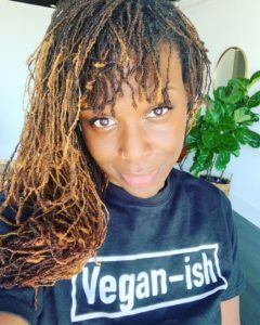 Nneka with Vegan-ish t-shirt